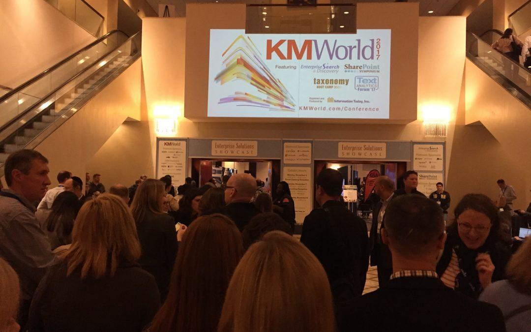 KM World 2017 : progression fascinante de la gestion des connaissances